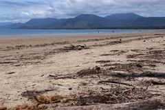 Fyra mil strand, Port Douglas, norr Queensland Royaltyfri Foto