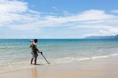 Fyra mil strand, Port Douglas, norr Queensland Arkivbilder