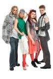 fyra modeller Royaltyfri Foto