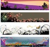 fyra moderna grungetitelrader vektor illustrationer