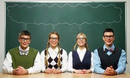 Fyra nerds Royaltyfri Foto