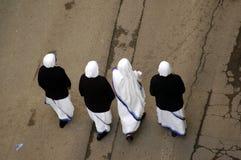 fyra nunnor Royaltyfria Bilder
