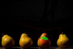 Fyra organiska Pears Royaltyfria Bilder