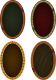 fyra ovala ramar Arkivfoton