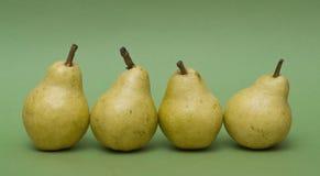 fyra pears Royaltyfri Foto