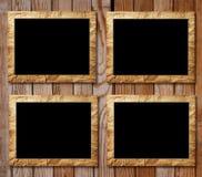 Fyra plakat av svart i dekorativa räckvidder stock illustrationer