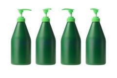 Fyra Plastic flaskor Fotografering för Bildbyråer