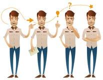 Fyra poserar av teckenet vektor illustrationer