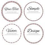 Fyra prack cirklar för din text Royaltyfri Foto