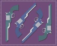 Revolvers royaltyfri illustrationer