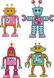 Fyra robotar Royaltyfri Bild