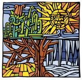 fyra säsonger stock illustrationer