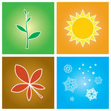 Fyra säsonger arkivfoton