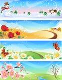 fyra säsonger royaltyfri illustrationer