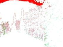 Fyra säsonger i vitt, rött och grönt royaltyfri illustrationer