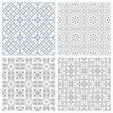 fyra seamless modeller Arkivfoto