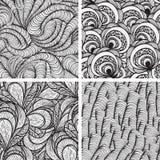 fyra seamless skraj modeller royaltyfri illustrationer