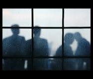 fyra silhouettes Royaltyfri Fotografi