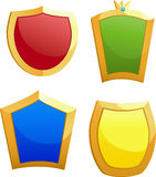 fyra sköldar vektor illustrationer