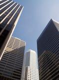 fyra skyskrapor royaltyfria foton