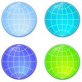 fyra spheres Arkivfoto