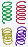 Fyra spiral pilar Royaltyfria Foton