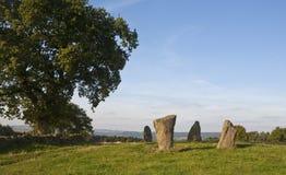 Fyra stående stenar Royaltyfria Bilder