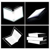 Fyra symboler av böcker Royaltyfria Bilder