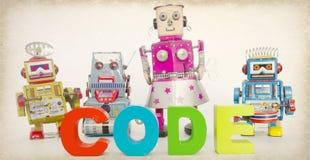 fyra tonad bild för kod robotar Royaltyfri Fotografi
