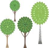 fyra trees Arkivfoto