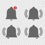 fyra trevliga symboler av meddelande för klockaringning vektor illustrationer