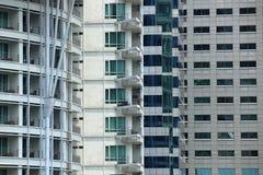 Fyra typer av byggnad Arkivbilder