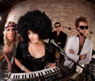 fyra unga musiker Royaltyfri Fotografi