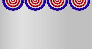 Fyra USA-flaggaBuntings som isoleras på vit bakgrund stock illustrationer