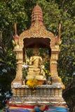 Fyra vände mot Buddha Arkivbilder