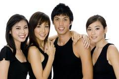 Fyra vänner royaltyfria bilder