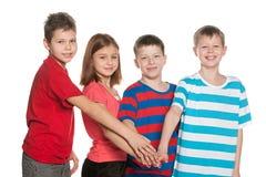 Fyra vänner Arkivbild