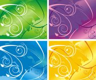 fyra variants royaltyfri bild