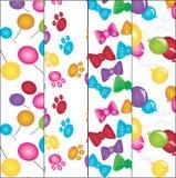 fyra varicolored texturer Royaltyfria Foton