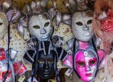 fyra venetian maskeringar Royaltyfri Bild