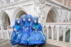 fyra venetian maskeringar Fotografering för Bildbyråer