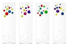 Fyra vertikal baners arkivfoto