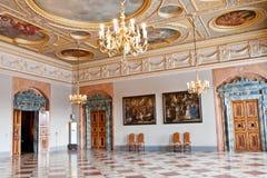 Fyra vita hästar Hall, Residenz, Munich, Tyskland arkivfoto