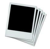 fyra vita polaroids Royaltyfri Fotografi