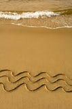 fyra waves Arkivfoton