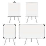 Fyra whiteboards royaltyfri illustrationer