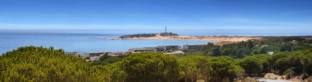 Fyrar Cabo Trafalgar Arkivbild