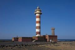 Fyren i Las Palmaskanariefågeln Isl för El Cotillo Fuerteventura Arkivfoton