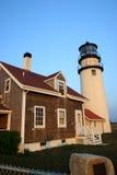 fyren massachusetts för udd för 1816 fyrar upprättade första historiska ljusa var den torsk ett torn för rubblestone för punktrac Royaltyfri Bild