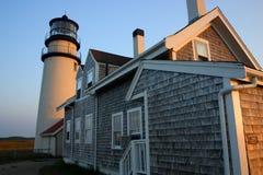 fyren massachusetts för udd för 1816 fyrar upprättade första historiska ljusa var den torsk ett torn för rubblestone för punktrac Royaltyfria Foton
